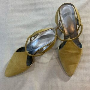 Shoes - Vintage Paco Gil Sling back suede shoes